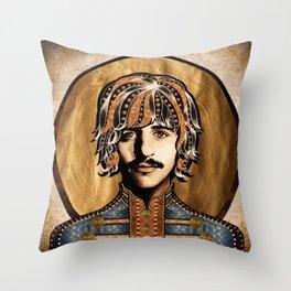 Boho Beatle ( Ringo ) Throw Pillow
