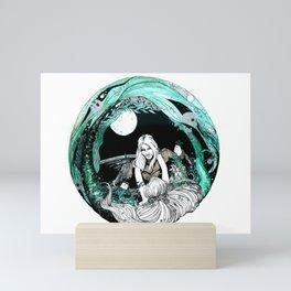 La sirena y el pescador Mini Art Print