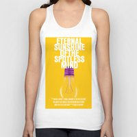 eternal sunshine Tank Tops featuring Eternal Sunshine Of The Spotless Mind Movie Poster by FunnyFaceArt