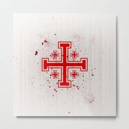 The Crusades Bloody Knight Templar Metal Print