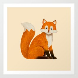 Woodland Critters Series: Fox Art Print