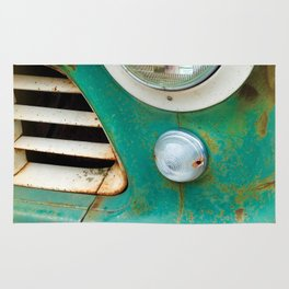 Rusty Turquoise Car Rug