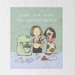 Baking Advice Throw Blanket
