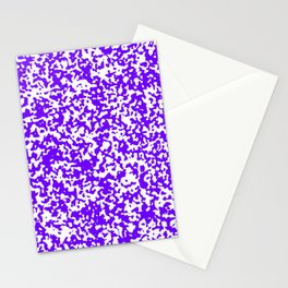 Small Spots - White and Indigo Violet Stationery Cards