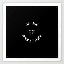 Chicago - IL, USA (Badge) Art Print
