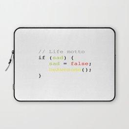 Life motto Laptop Sleeve