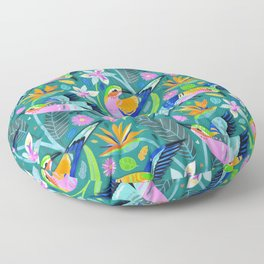 Lively Lilac Breasted Rollers Floor Pillow