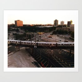 L Train Passing Through Chicago's West Side Art Print