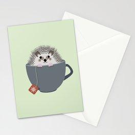 Holiday Tea Cup Hedgehog Stationery Cards