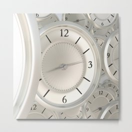 Clocks Metal Print