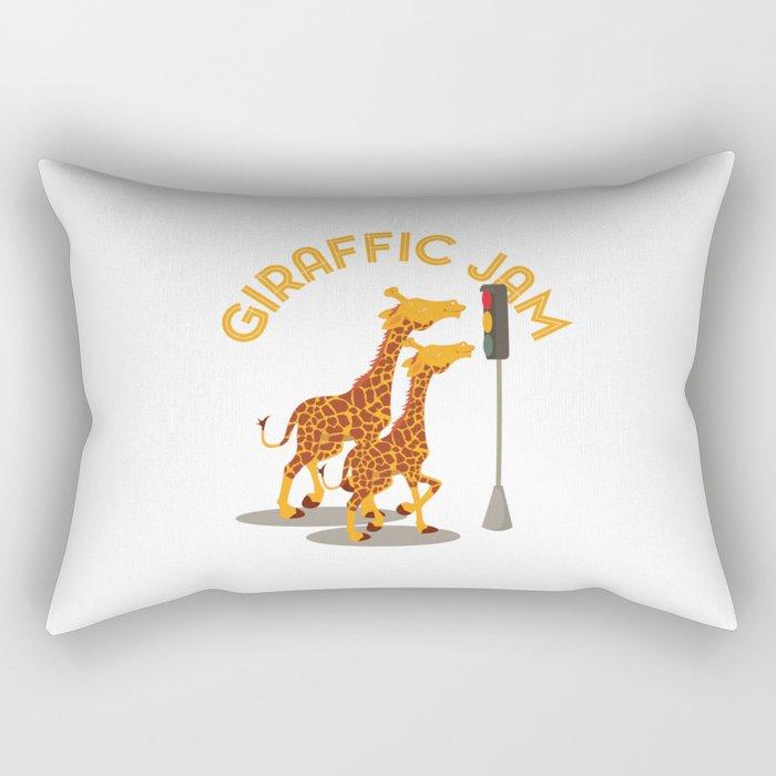 Giraffic Jam Traffic Pun Rectangular Pillow