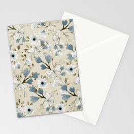 Flowers and Butterflies Stationery Cards