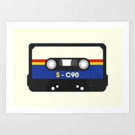 Black Cassette #2 Art Print