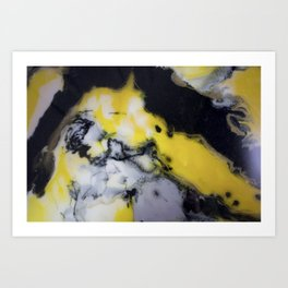 Bright yellow Art Print