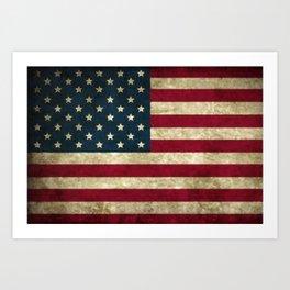 Vintage American flag Kunstdrucke