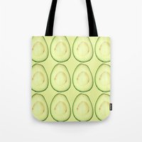 avocado Tote Bags featuring avocado by Panic Junkie