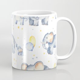 Elephants - Watercolor Elephants Boys with Dads Coffee Mug