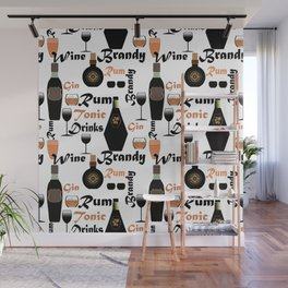 Abstract holiday gift pattern for men . Bar Wall Mural
