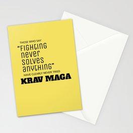 Fighting Never Solves Anything... Try Krav Maga  Stationery Cards