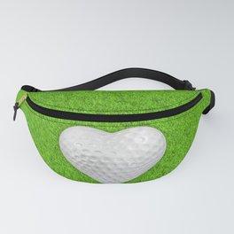 Golf ball heart / 3D render of heart shaped golf ball Fanny Pack