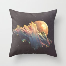 "Glitch art, ""Dragon Egg"" 2014 Throw Pillow"