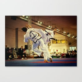 Traditional sparring - Taekwon-do ITF Canvas Print