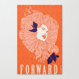 Art Poster - Forward Canvas Print