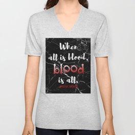 ALL IS BLOOD   NEVERNIGHT Unisex V-Neck
