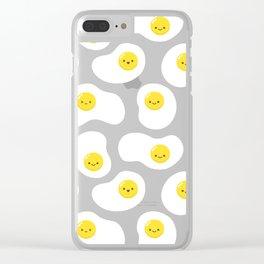 Cute Fried Eggs Pattern Clear iPhone Case