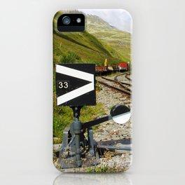 Ancient mountain railway iPhone Case