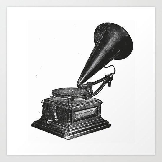 Gramophone 2 Art Print