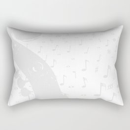 Classical Music Background Rectangular Pillow
