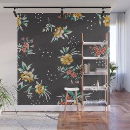 Romantic modern classic floral dotty print Wall Mural