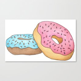 D is for Donut Canvas Print