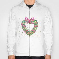 Xmas Heart Wreath Hoody