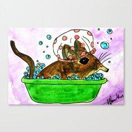 A Very Tiny Bath Canvas Print
