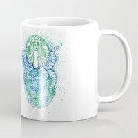 starbucks Mugs featuring Starbucks Apocalypes Print by Endia Kneipp