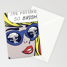 Pop Optimistic Girl Stationery Cards