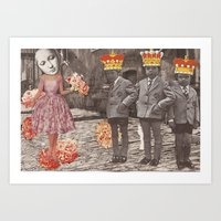 Feisty Boys - Collage Collections Art Print