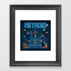 Metroids Framed Art Print