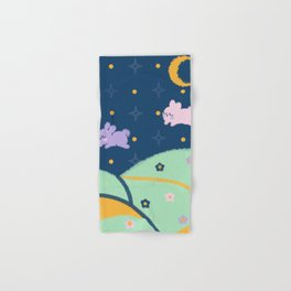 Bunnies over the Hill Hand & Bath Towel