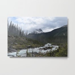 Mountains in Banff Metal Print