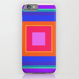 Squares in Purple, Blue, Red, Pink iPhone Case