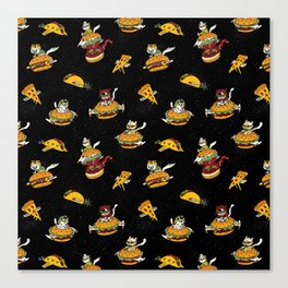 I Can Haz Cheeseburger Spaceships? Canvas Print