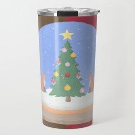 Snow Globe Christmas Tree Foxes Travel Mug