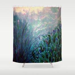 """Marisa Moscoso, """"Desde el fondo del mar"""" Shower Curtain"""