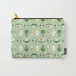 Avocados and aliens pattern Carry-All Pouch