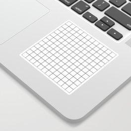 Grid Stripe Lines Black and White Minimalist Geometric Sticker
