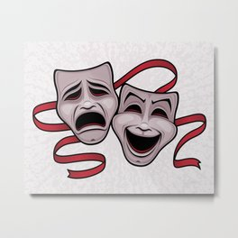 Comedy And Tragedy Theater Masks Metal Print