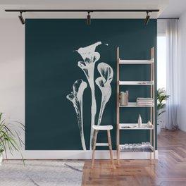 Calla Lily - Navy Wall Mural